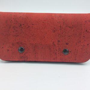 Portefeuille liège rouge par Saturnin