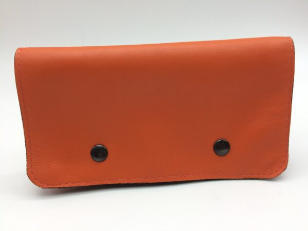 portefeuille en cuir orange par Saturnin