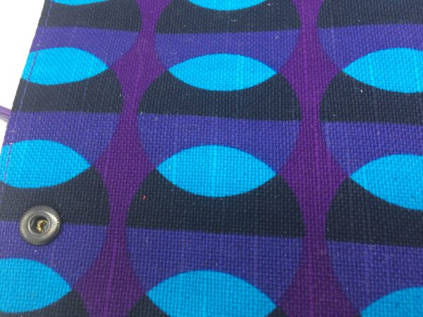 création tissu original, motif 70's