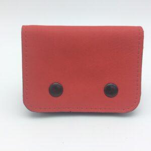 porte cartes cuir rouge par saturnin