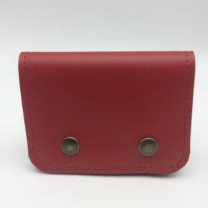 porte-monnaie en cuir , porte-cartes en cuir, rouge