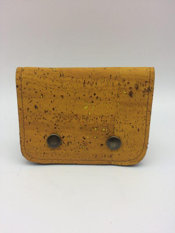 porte-monnaie en liege, porte-carte en liege, jaune ,