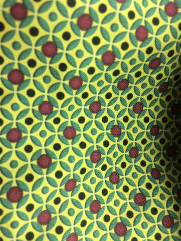 création tissu original, motif géométrique