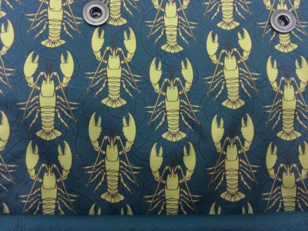 création tissu original, motif homard jaune