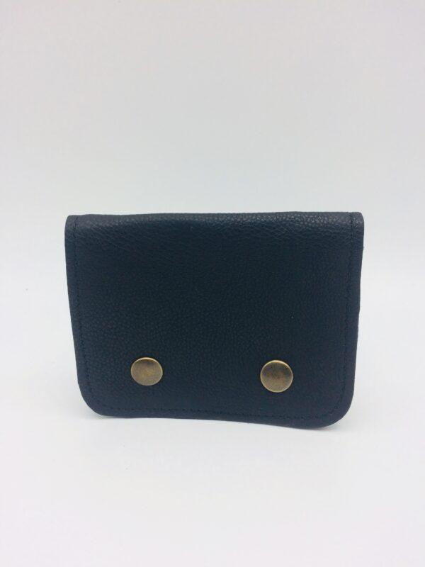 porte-monnaie en cuir, porte-cartes en cuir, noir