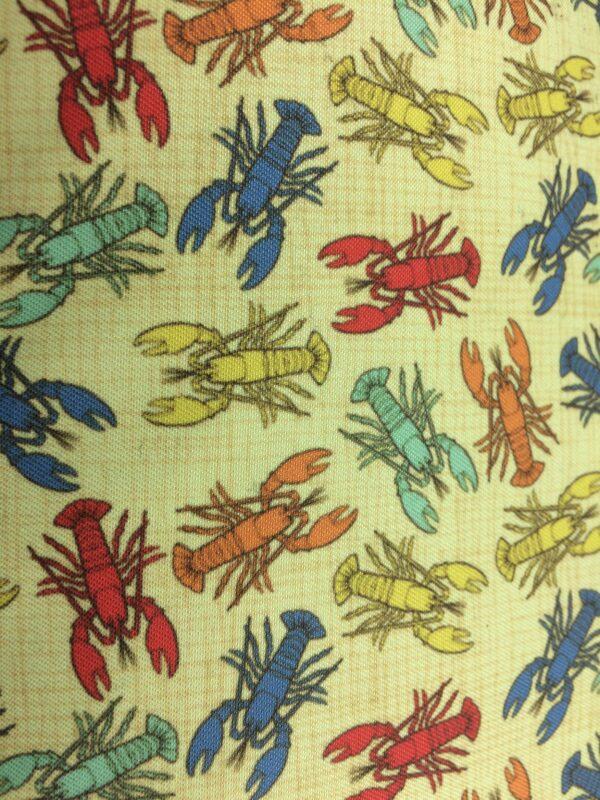 création tissu original, motif homard vintage
