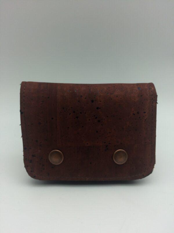 porte-monnaie, porte-cartes en liège, marron