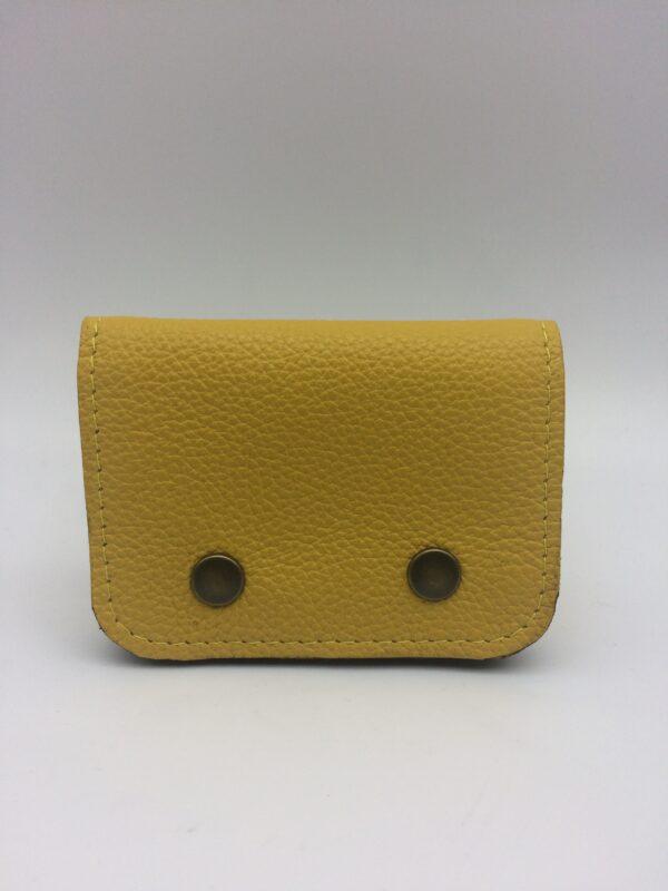 porte-monnaie, portes-cartes, cuir jaune