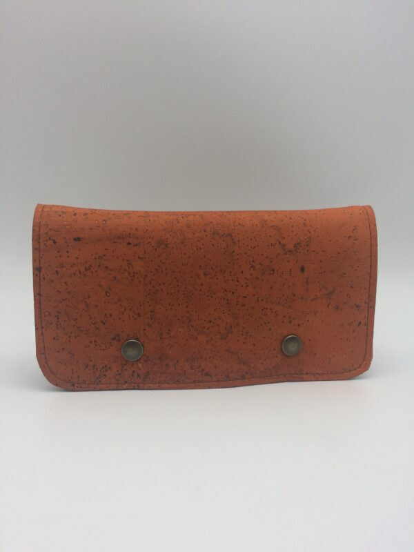 portefeuille en liege, orange