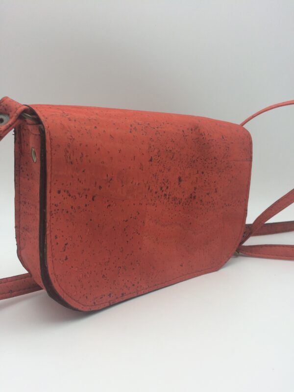 sac en liege, orange-rouge, modèle petite zoé